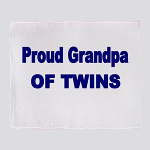 PROUD GRANDPA OF TWINS Throw Blanket