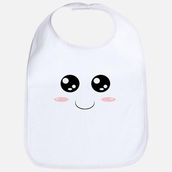 Smiley Kawaii Face Bib