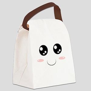 Smiley Kawaii Face Canvas Lunch Bag