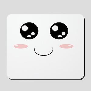 Smiley Kawaii Face Mousepad