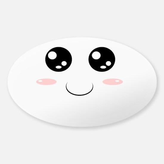 Smiley Kawaii Face Decal