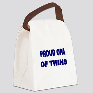 PROUD OPA OF TWINS 2 Canvas Lunch Bag