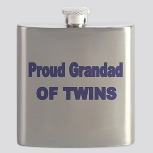 PROUD GRANDAD OF TWINS 2 Flask
