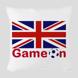 Let the Games Begin Woven Throw Pillow