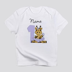 Personalized Giraffe Fairy 1 Infant T-Shirt