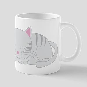 Sleepy Gray Tabby Mug