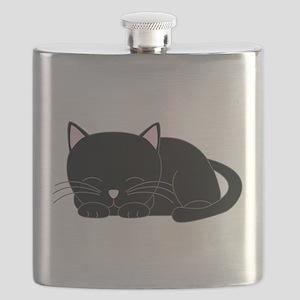 Cute Black Cat Flask