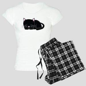 Cute Black Cat Women's Light Pajamas