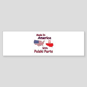 America With Polski Parts Sticker (Bumper)