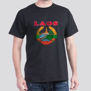 Laos Coat Of Arms Designs Dark T-Shirt