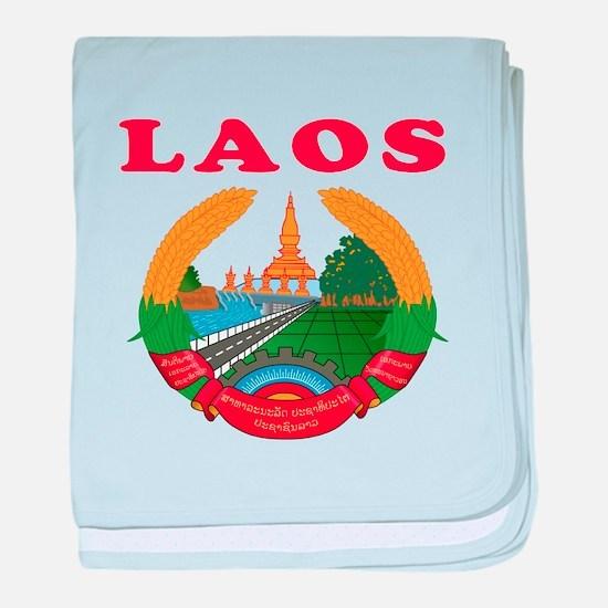 Laos Coat Of Arms Designs baby blanket