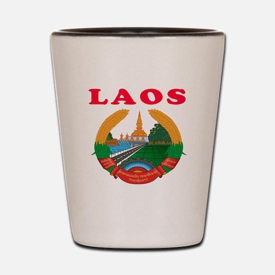 Laos Coat Of Arms Designs Shot Glass