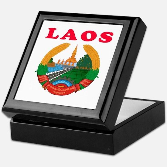 Laos Coat Of Arms Designs Keepsake Box