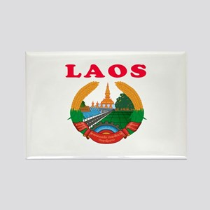 Laos Coat Of Arms Designs Rectangle Magnet
