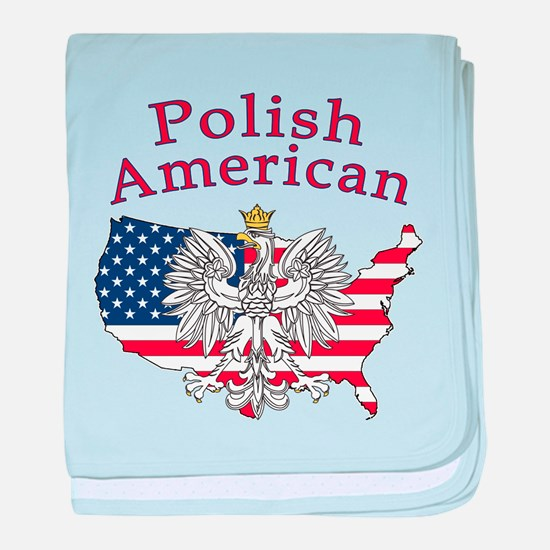 Polish American Map baby blanket