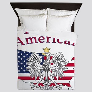 Polish American Map Queen Duvet