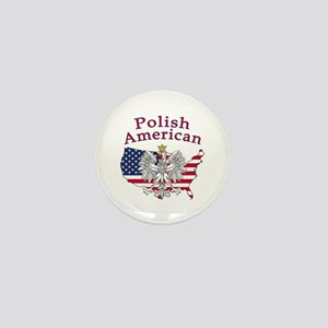 Polish American Map Mini Button