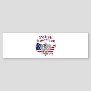 Polish American Map Sticker (Bumper)