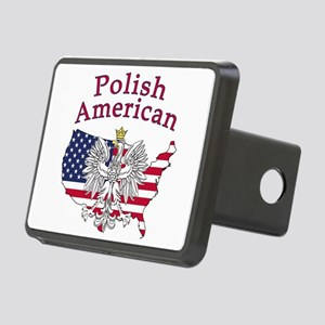 Polish American Map Rectangular Hitch Cover
