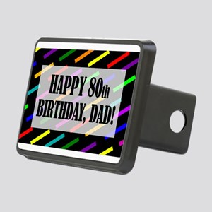 80th Birthday For Dad Rectangular Hitch Cover