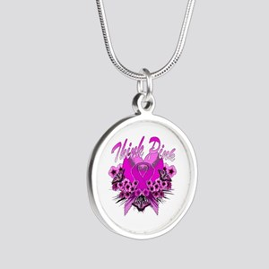 Think Pink Silver Round Necklace