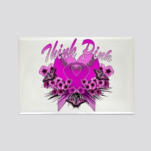 Think Pink Rectangle Magnet