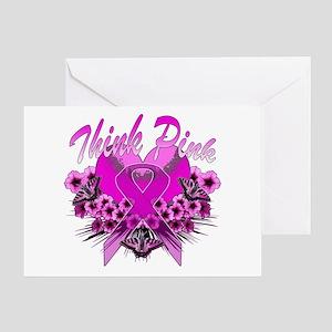 Think Pink Greeting Card