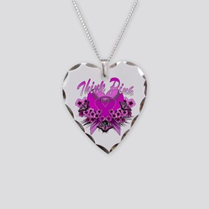 Think Pink Necklace Heart Charm