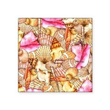 Sea Shells Square Sticker 3