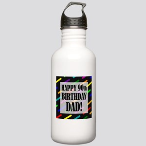 90th Birthday For Dad Stainless Water Bottle 1.0L