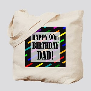 90th Birthday For Dad Tote Bag