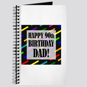 90th Birthday For Dad Journal