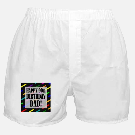 90th Birthday For Dad Boxer Shorts