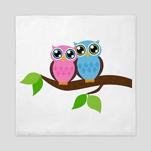 Two Owls Queen Duvet