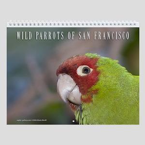 Wild Parrots Wall Calendar