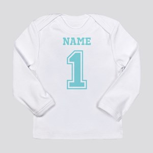 Blue Number One Long Sleeve T-Shirt