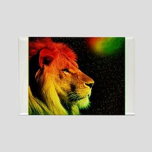 Rasta Lion Rectangle Magnet