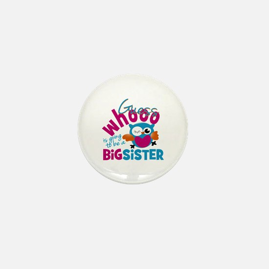 Big Sister - Owl Mini Button