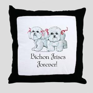 Bichon Frise Fun Throw Pillow