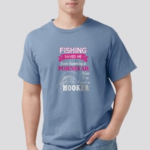 Fishing Saved Me From Be Mens Comfort Colors Shirt