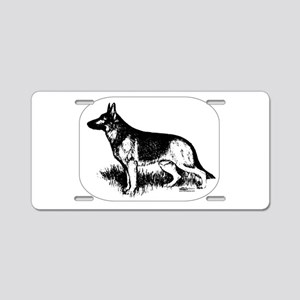 German Shepherd Profile Aluminum License Plate