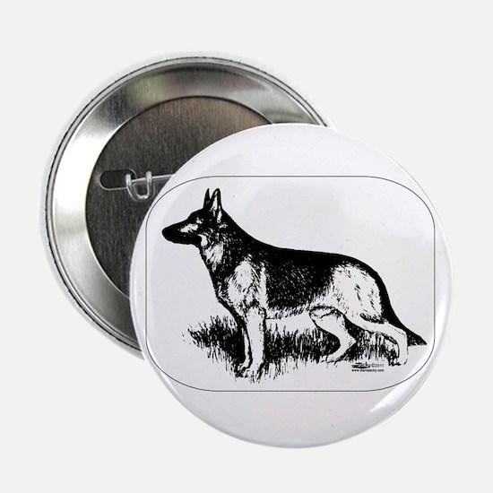 "German Shepherd Profile 2.25"" Button"