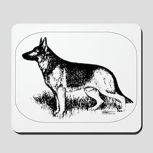 German Shepherd Profile Mousepad