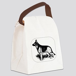 German Shepherd Profile Canvas Lunch Bag