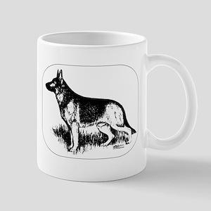 German Shepherd Profile Mug