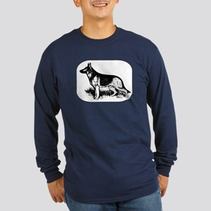 German Shepherd Profile Long Sleeve T-Shirt