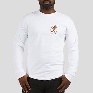 Soccer Monkey Long Sleeve T-Shirt Corner Image