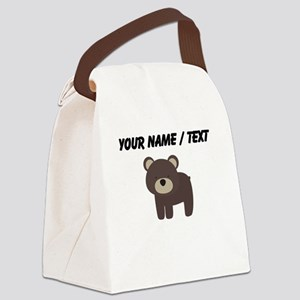 Cartoon Bear Canvas Lunch Bag
