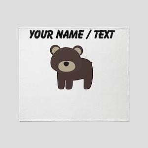 Cartoon Bear Throw Blanket