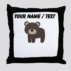 Cartoon Bear Throw Pillow